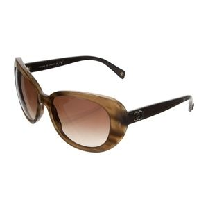 Chanel Brown Acetate Sunglasses! Very new!